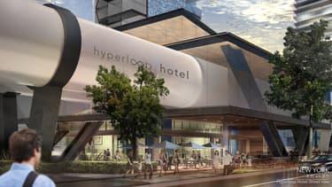 Ce projet baptisé Hyperloop Hôtel compte relier 13 des principales villes américaines