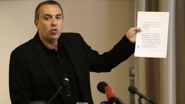 """Jean-Marc Morandini, lors d'une conférence de presse après les révélations des """"Inrocks"""", le 19 juillet 2016"""