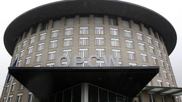 Le siège de l'OIAC (OPCW en anglais), à La Haye, aux Pays-Bas.