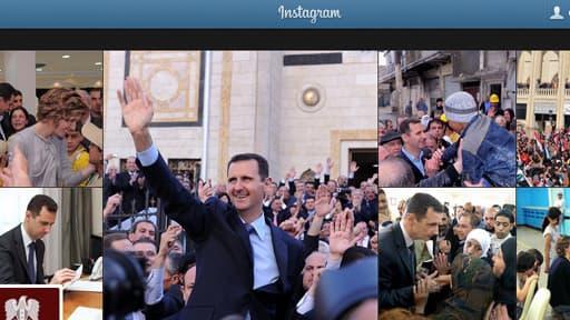 Après Twitter et Facebook, Bachar el-Assad débarque sur Instagram.