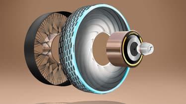 Une capsule est installée au centre du pneu, elle injecte un mélange à l'extérieur du pneumatique. Celui-ci aura alors des particularités demandées selon la saison.