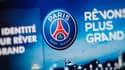 La présentation du nouveau logo du PSG en 2013