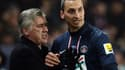 Carlo Ancelotti et Zlatan Ibrahimovic