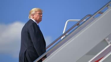 Le président des Etats-Unis Donald Trump embarque à bord d'Air Force One, le 9 juin 2017 dans le Maryland aux Etats-Unis. (Photo d'illustration)