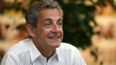 """Nicolas Sarkozy présente en juillet 2020 son livre """"Le Temps des Tempêtes"""" à Ajaccio"""