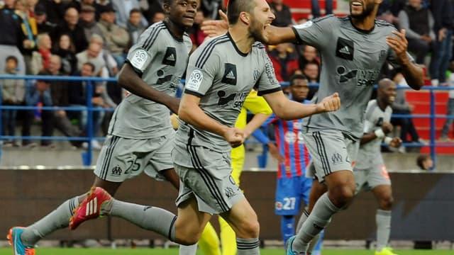 André-Pierre Gignac après son but face à Caen (2-1)
