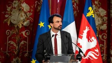 Grégory Doucet à l'hôtel de ville de Lyon le 4 juillet 2020.