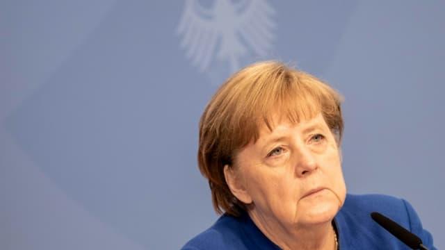La chancelière Angela Merkel à Berlin le 6 mai 2021