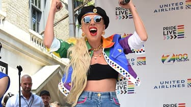 Lady Gaga à la Gay Pride à New York, le 28 juin 2019.