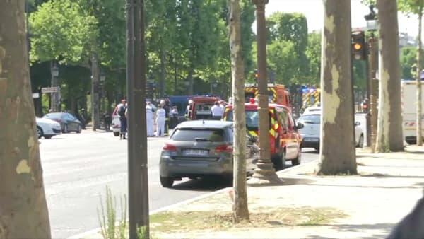 L'intervention de police sur les Champs-Élysées le 19 juin 2017