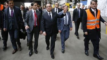 François Hollande se rendait ce mardi à La Courneuve, où il a visité l'usine de recyclage Paprec.