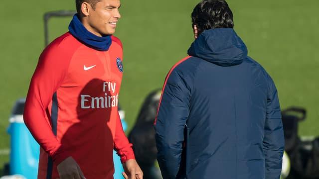 Thiago Silva et Unai Emery