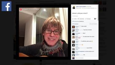 Jean-Louis Aubert en concert en direct sur Facebook.