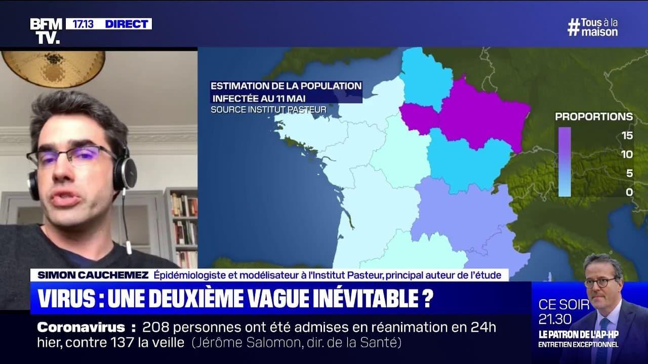 """Coronavirus: selon l'épidémiologiste Simon Cauchemez, """"il y a des zones en  France où on est à bien moins de 6% d'immunisation de la population"""""""