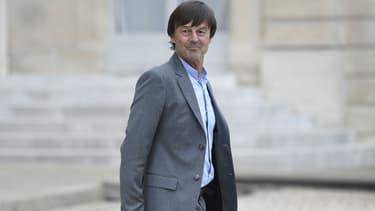 Nicolas Hulot après le conseil des ministres à l'Élysée le 24 mai 2017