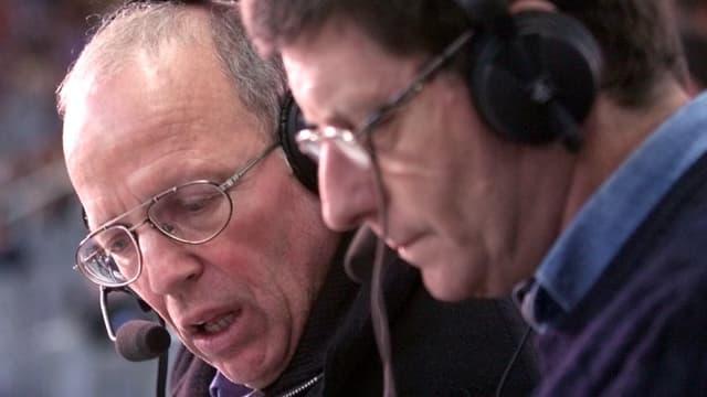 Thierry Roland et Jean-Michel Larqué