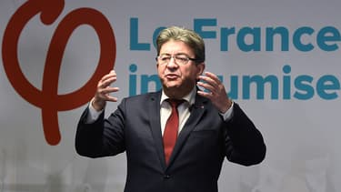 Jean-Luc Mélenchon le 19 janvier 2018 à Paris.