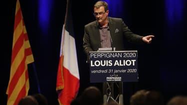 Louis Aliot, tête de liste RN à Perpignan, le 31 janvier 2020