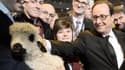 François Hollande au Salon de l'Agriculture, samedi 21 février.