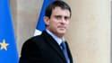Manuel Valls quittant l'Elysée, le 15 janvier 2013.
