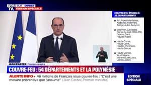 """Jean Castex: Les mesures de soutien à l'économie seront """"étendues à l'ensemble des départements basculant sous le régime du couvre-feu"""""""
