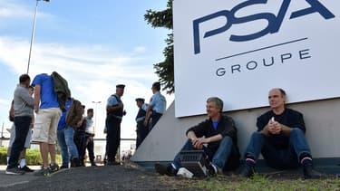 Les salariés de GM&S bloquent l'usine de PSA depuis ce mercredi