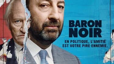 """Niels Arestrup et Kad Merad, protagonistes de la série politique """"Baron noir"""", sur Canal+."""