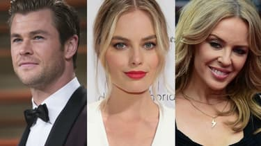 Chris Hemsworth, Margot Robbie et Kylie Minogue
