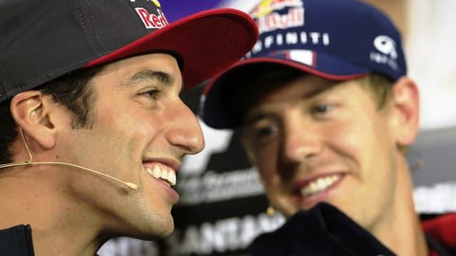 Daniel Ricciardo et Sebastian Vettel