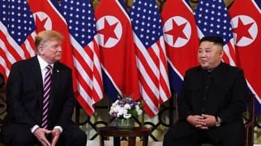 Les deux dirigeants à Hanoi, au Vietnam