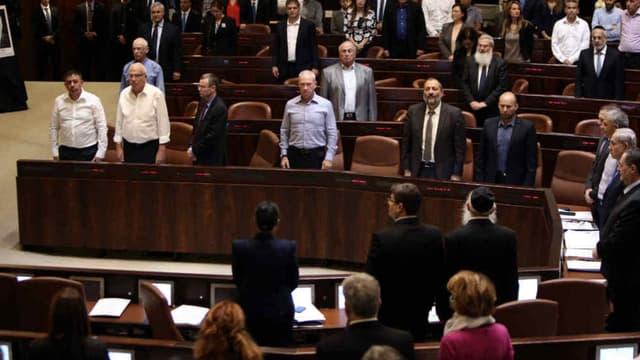 Une minute de silence observée lors d'une session au Parlement israélien, le 26 octobre 2015 (photo d'illustration)