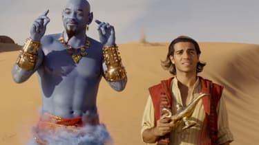 Will Smith et Mena Massoud, le Génie et Aladdin