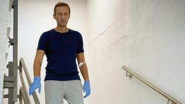 Photo d'Alexei Navalny dans on hôpital de Berlin postée le 19 septembre 2020 sur son compte Instagram
