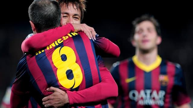 Iniesta et Neymar