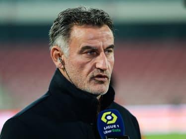 L'entraîneur de Lille, Christophe Galtier, face à la presse en L1