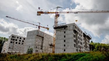 Des immeubles en construction à Montpellier, en août 2014.