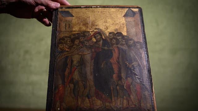 """""""Le Christ moqué"""", chef d'oeuvre du peintre italien Cimabue."""