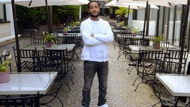 Le rappeur Lacrim à Paris le 26 août 2014