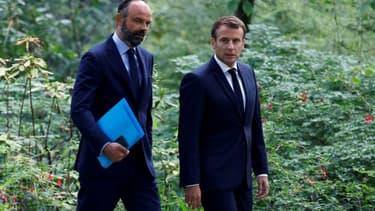 Emmauel Macron et Edouard Philippe le 29 juin 2020 au palais de l'Elysée à Paris