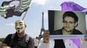 Une manifestation de soutien à Edward Snowden, à Paris, le 7 juillet dernier.
