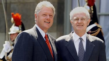 Bill Clinton et Lionel Jospin à Washington en 1999.