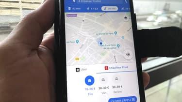 Sur Google Maps, Chauffeur Privé et Uber sont désormais cote à cote