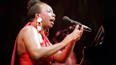 Nina Simone sur scène en octobre 2011