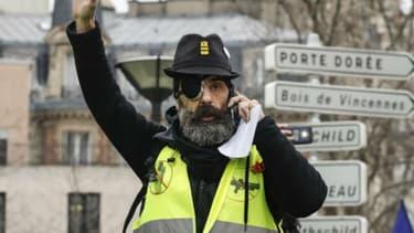 Jérôme Rodrigues lors de la manifestation gilets jaunes du 2 février