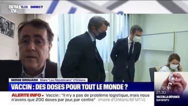 """Serge Grouard (maire LR d'Orléans): """"Pour 30.000 personnes, j'ai 200 doses par jour (...) Tout est centralisé à Paris"""""""