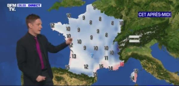Les températures attendues ce samedi