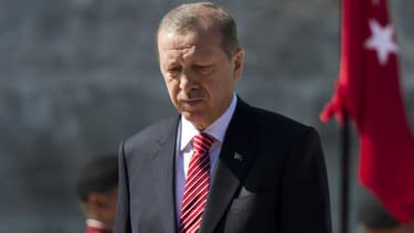 Recep Rayyip Erdogan en visite officielle au Mexique, le 12 février 2015.