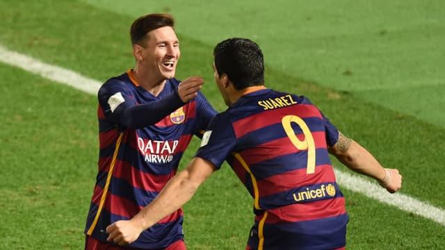 Lionel Messi et Luis Suarez