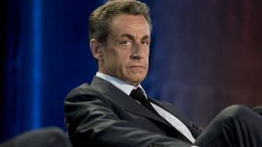 Nicolas Sarkozy, en meeting aux Pavillons-Sous-Bois