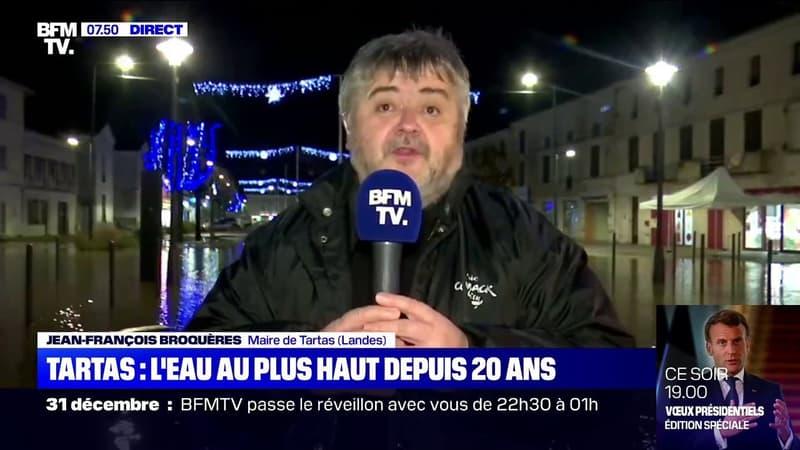 Intempéries dans les Landes: Jean-François Broquères, maire de Tartas,